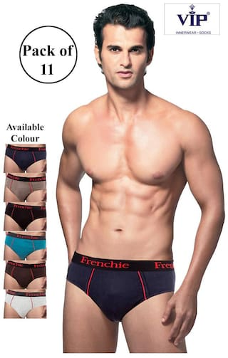 VIP Solid Briefs - Assorted ,Pack Of 11