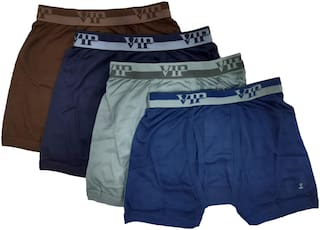 VIP Solid Trunks - Assorted ,Pack Of 4