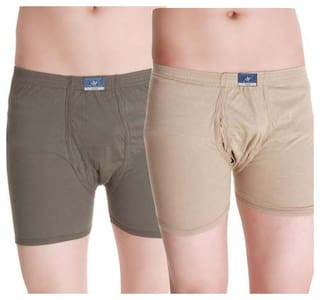 VIP Solid Trunks - Multi ,Pack Of 2