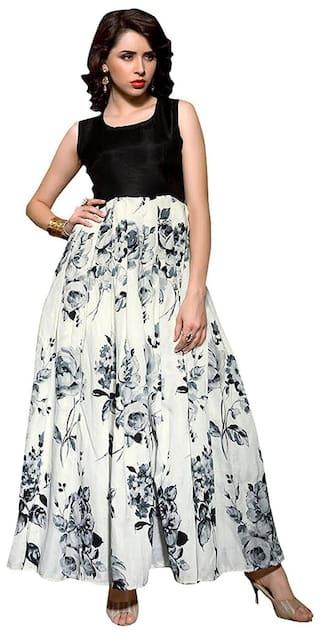 5b5ad0845a8d71 Vipul Bollywood Designer Black and WHITE Banglori Silk Lehenga Choli ( best  birthday wedding anniversary gift