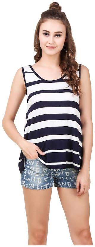 Texco Women Striped Regular top - Blue
