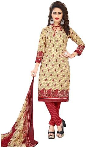 Viva N Diva Beige Color Leon fabric Dress Material