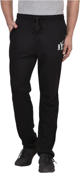 Vivid Bharti Men Cotton blend Track Pants - Black