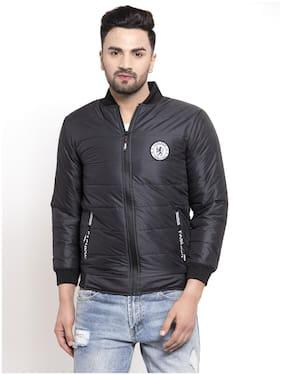 VOXATI Men Blended Parka Jacket -Black