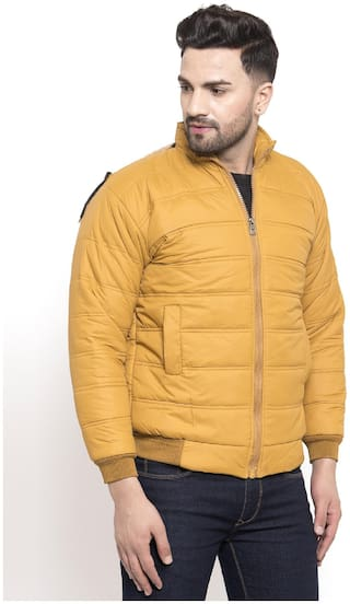 VOXATI Men Blended Parka Jacket -Yellow