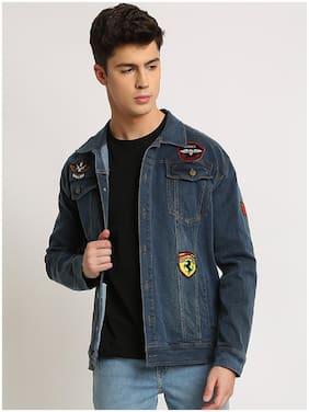 VOXATI Men Blue Solid Denim jacket