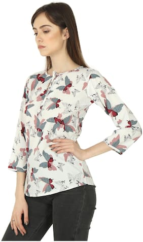 Vskin Women Crepe Printed - Regular top Multi