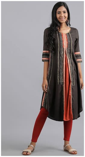 Women Embroidered Assymetrical Kurta