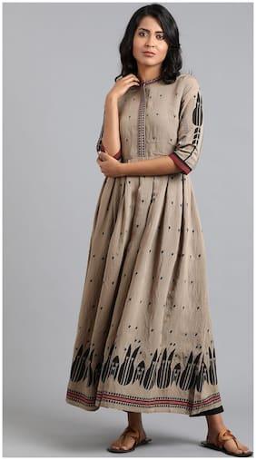 Women Printed Straight Fusion Dresses