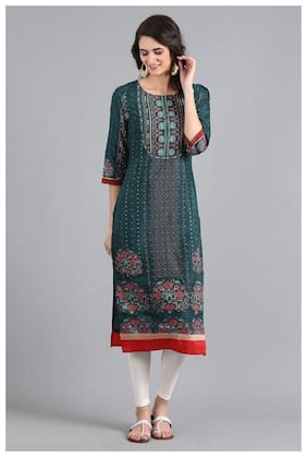 Women Floral Straight Kurta