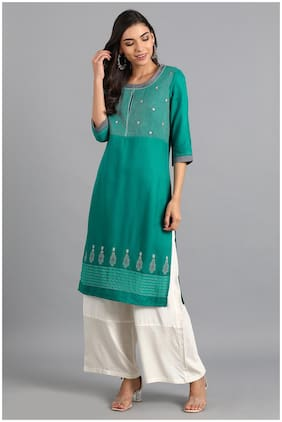 Women Striped Straight Kurta