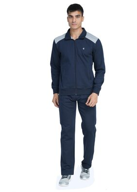 Wake Up Competition Men Fleece Track Suit - Navy Blue