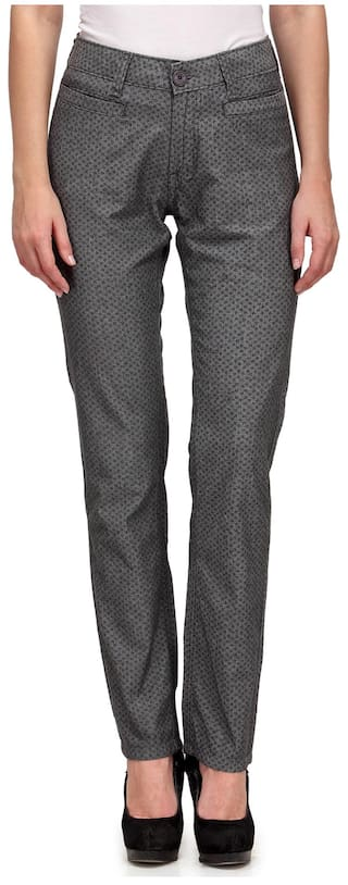 Mind Grey Trouser Casual Cotton Wear Your YU1ZqUS