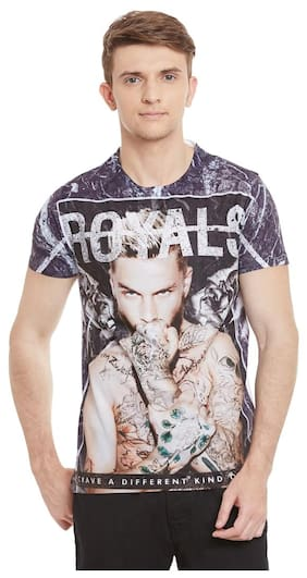 Wear Your Mind Multicolor Polyester Printed Tshirt For Men