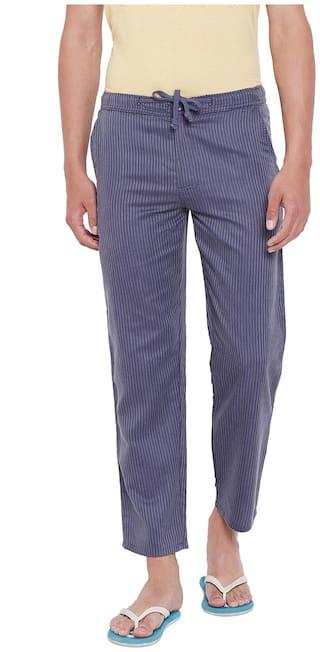 Wear Your Mind Men's Cotton Pyjama - Blue