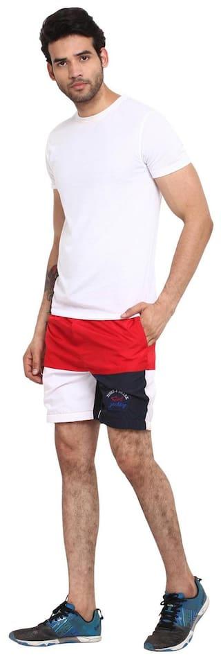 Wear Red Shorts Wash Your print Regular Mind block Polyester h23lNk