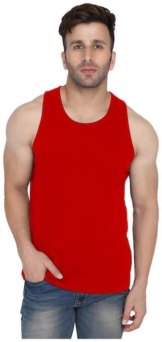 WEFT 1 Sleeveless Scoop Neck Men Vest - Red
