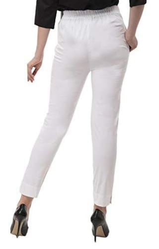 amp; White Trouser Formal Cotton Semi Wekay Womens Pants YBq78zBw