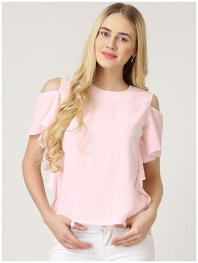Westrobe Women Printed Regular top - Pink