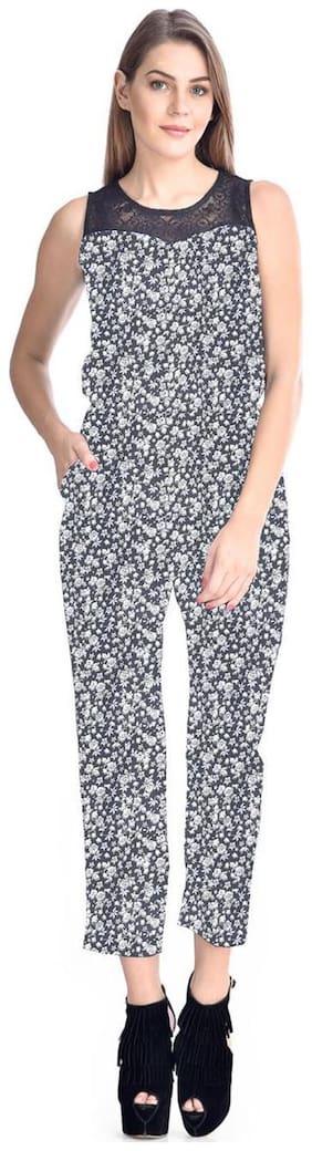 Westrobe Printed Jumpsuit - Grey