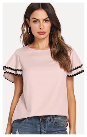 Westrobe Women Solid Regular top - Pink