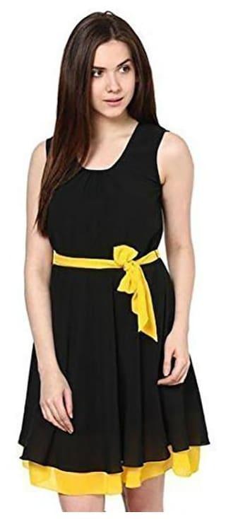Westrobe Women Black yellow Dress