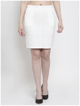 Westwood Solid Straight skirt Mini Skirt - White