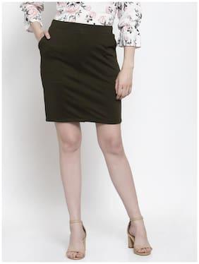Westwood Solid Straight skirt Mini Skirt - Green