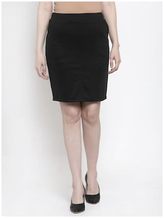 Westwood Solid Straight skirt Mini Skirt - Black