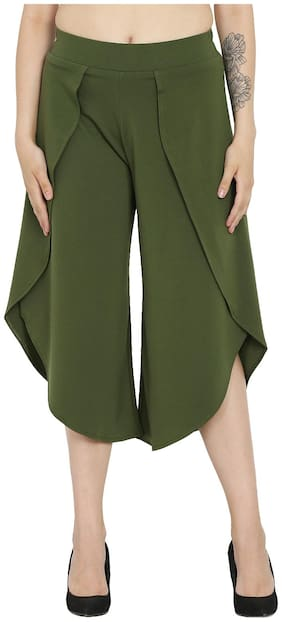 Westwood Women Green Regular fit Cullotes