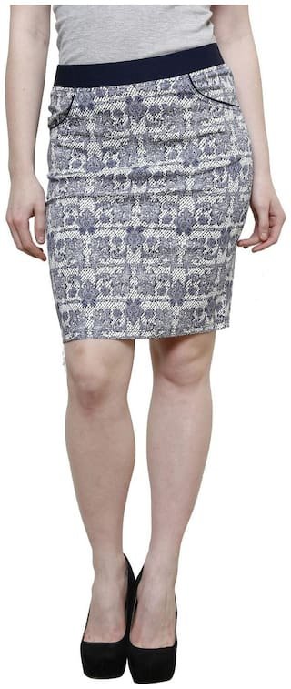 WESTWOOD Women's Blue Printed Skirt