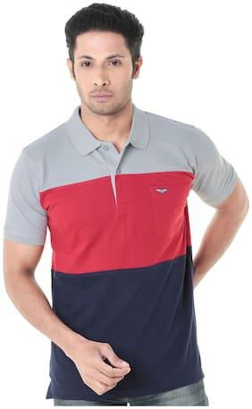 WEXFORD Men's Cotton Polo neckCasual T-Shirt - Multi