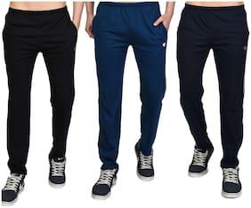 Regular Fit Blended Track Pants Pack Of 3