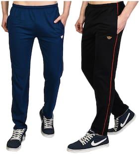 Regular Fit Cotton Blend Track Pants Pack Of 2