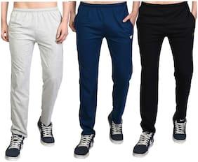 WHITEMOON Men Blended Track Pants - Blue