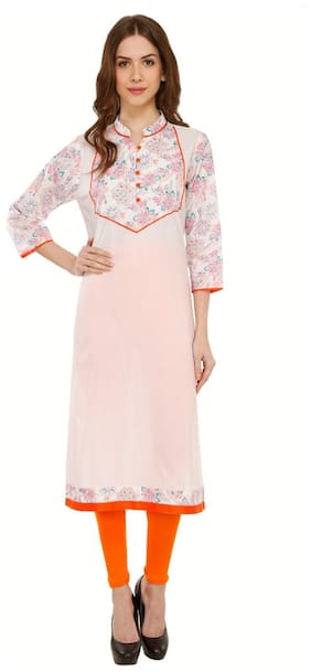 Luxury Living White Print Kurti