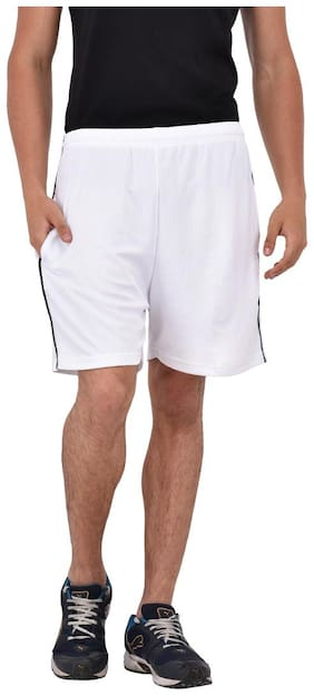 White Shorts for Men's by Fashion 7