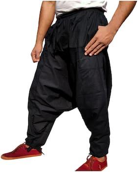 WhiteWhale Men Cotton Solid pajama Color Black