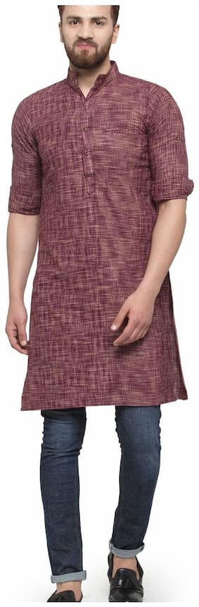 Men Printed Slim Fit Kurta Pack Of 1