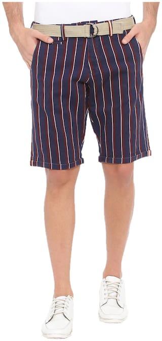 WITH Men Blue Regular Fit Regular Shorts