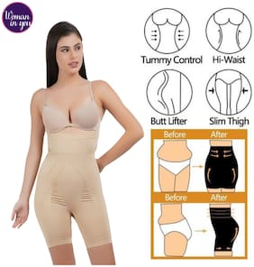 Woman in you Cotton Elastane Tummy-thigh-hip-back shaper Beige Color
