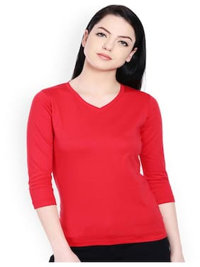 Sundish Solid Red Tank Top