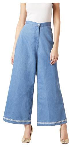 Women Washed Regular Trousers