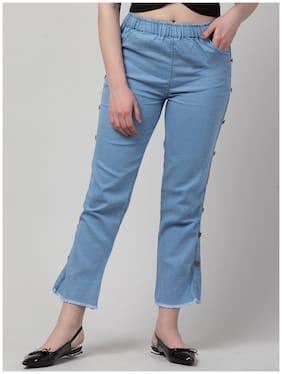 Women Casual Blue Regular fit Denim Jeans