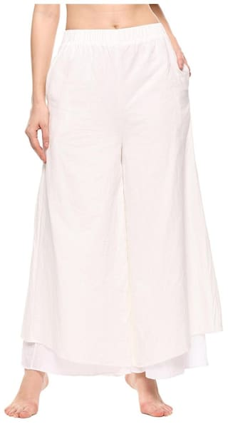 Women Pants Fit Layers Wide Culottes Casual Loose Leg 1xqfwrR1n