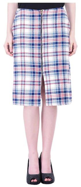 Women Check Jacquard Skirt
