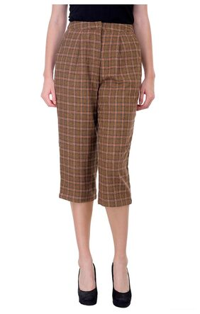 Women Check Culottes