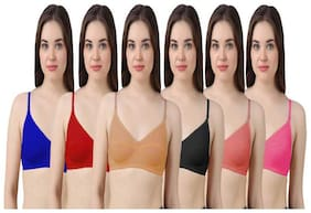 Pixelfox Women Cotton Bra Full Coverage Perfect Fit Daily Bra