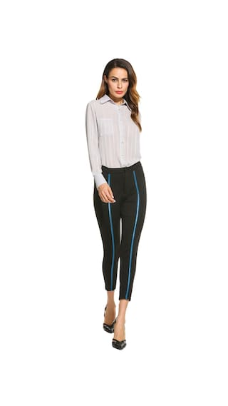 Fashion Women Skinny Waist Stretch Trousers Pants Betterlife Long Blue Casual High Sfw5dqaq