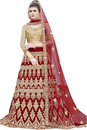 Velvet Wedding Lehnga Choli
